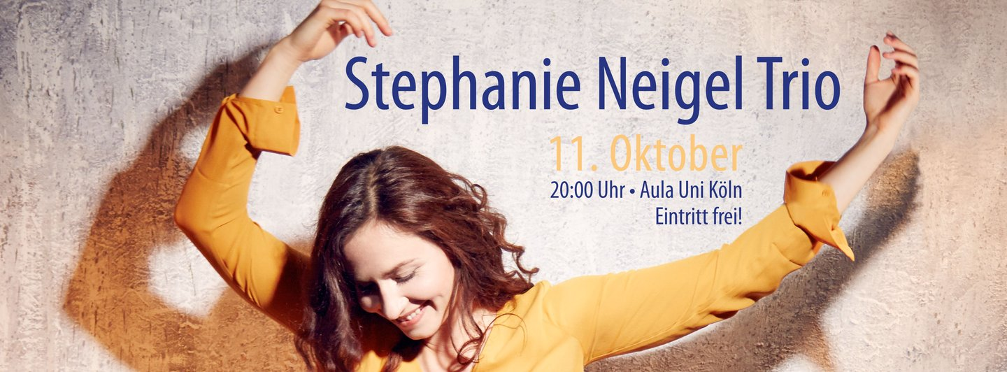 Konzertplakat zu Stephanie Neigel Trio am 11. Oktober 2017
